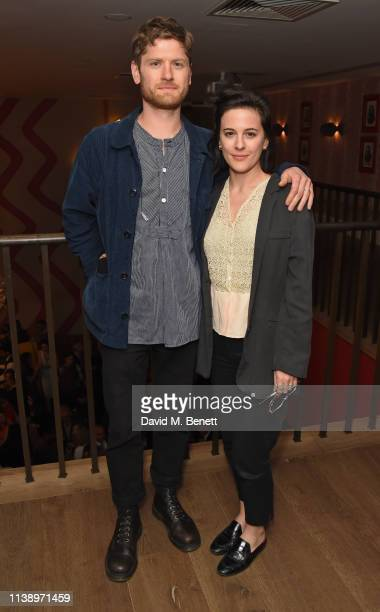 Kyle Soller and Phoebe Fox attend the press night after party for All My Sons at The Ham Yard Hotel on April 23 2019 in London England