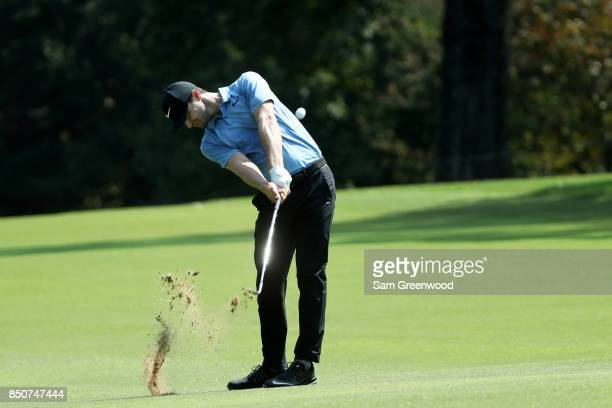 Kyle Stanley of the United States plays a shot on the fifth hole during the first round of the TOUR Championship at East Lake Golf Club on September...