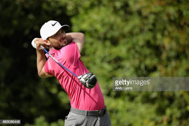 Kyle Stanley of the United States plays his shot from the 11th tee during the final round of THE PLAYERS Championship at the Stadium course at TPC...