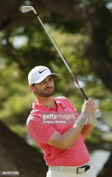 Kyle Stanley of the United States plays his shot from the fourth tee during round three of the Sony Open In Hawaii at Waialae Country Club on January...