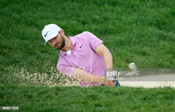 Kyle Stanley plays a shot on the fourth hole during the final round of The Memorial Tournament Presented by Nationwide at Muirfield Village Golf Club...