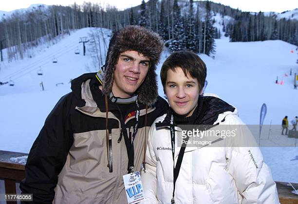 Kyle Swann and Devon Werkheiser during 2006 Sundance Film Festival Canyons Resort Red Pines Midpoint Lodge at Red Pines in Park City Utah United...