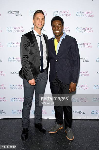 Kyle Taylor Patrick and guest attend the Ackerman Institute's Gender Family Project's A Night of a Thousand Genders at Joe's Pub on March 23 2015 in...
