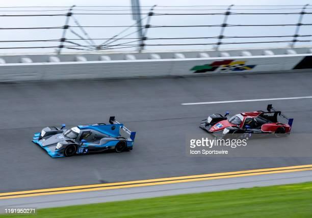 Kyle Tilley GBR Dwight Merriman USA Ryan Lewis GBR Nic Minassian FRA driver LE MANS PROTOTYPE 2 of Era Motorsport~ORECA LMP2 07 and Ryan Dalziel GBR...