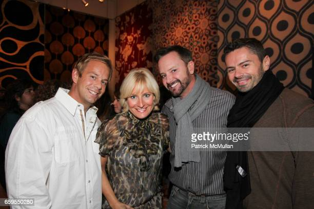 Kyle Timothy Blood Christine Phillips Simon Scott and Trent Blanchard attend STUDIO FOUR NYC Grand Opening Event at Studio Four on October 14 2009 in...