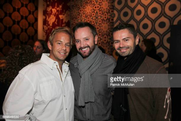 Kyle Timothy Blood Simon Scott and Trent Blanchard attend STUDIO FOUR NYC Grand Opening Event at Studio Four on October 14 2009 in New York City