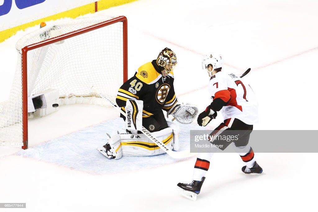 Ottawa Senators v Boston Bruins : Nachrichtenfoto