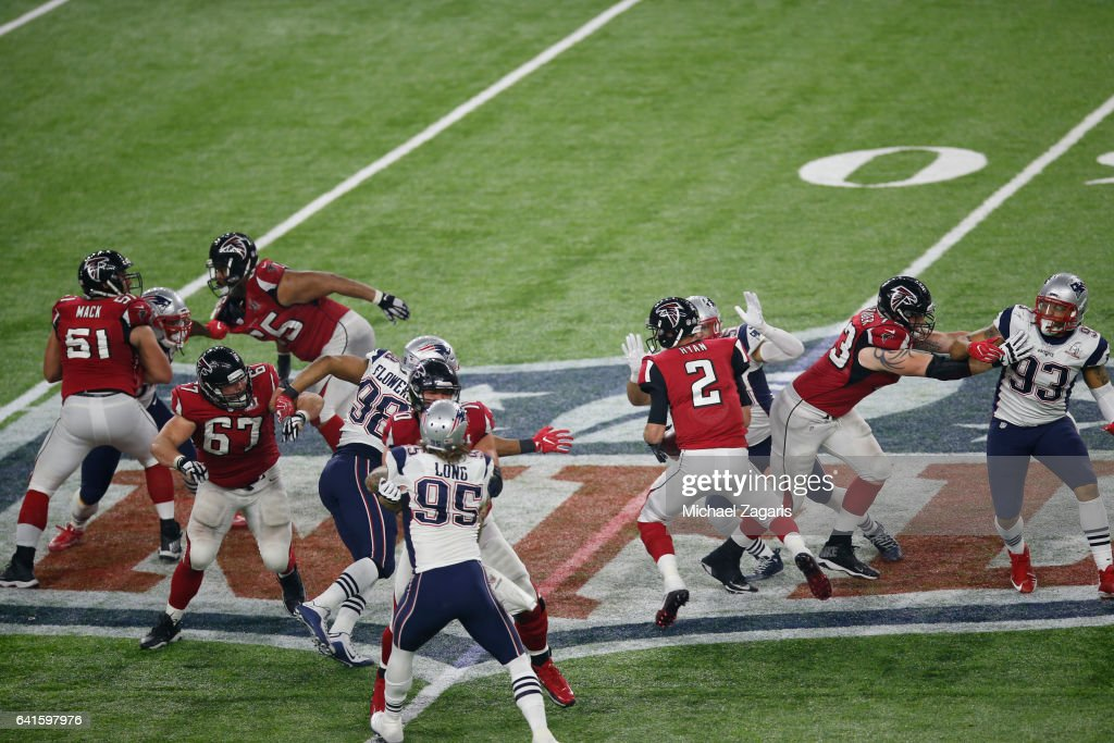 252e3ef0bfc Kyle Van Noy of the New England Patriots sacks Matt Ryan of the ...