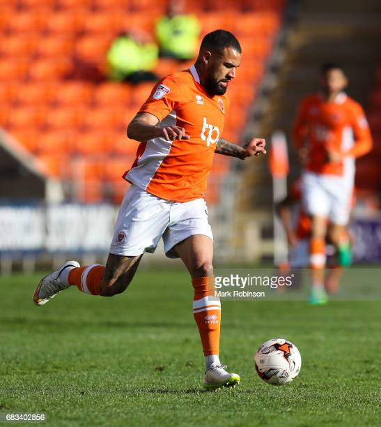 Kyle Vassell of Blackpool during the Sky Bet League Two match between Blackpool and Luton Town at Bloomfield Road on May 14 2017 in Blackpool England