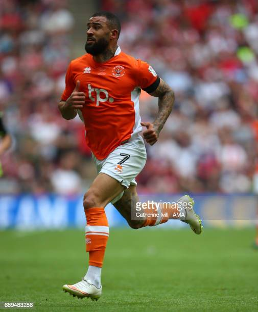 Kyle Vassell of Blackpool during the Sky Bet League Two Playoff Final match between Blackpool and Exeter City at Wembley Stadium on May 28 2017 in...