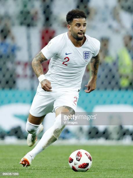 Kyle Walker of England during the 2018 FIFA World Cup Russia Semi Final match between Croatia and England at the Luzhniki Stadium on July 01 2018 in...