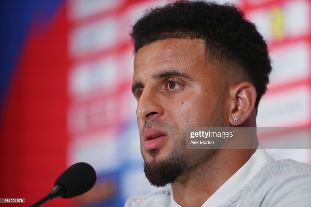 Kyle Walker of England during the England Media Access on June 22, 2018 in Saint Petersburg, Russia.