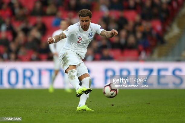Kyle Walker of England during the UEFA Nations League A group four match between England and Croatia at Wembley Stadium on November 18 2018 in London...