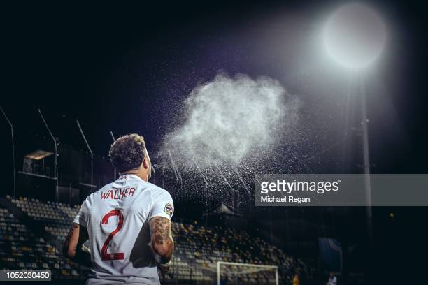 Kyle Walker of England looks on during the UEFA Nations League A group four match between Croatia and England at on October 12 2018 in Rijeka Croatia