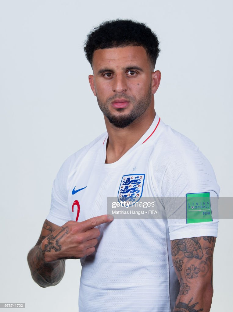 Kyle Walker of England poses for a portrait during the official FIFA World Cup 2018 portrait session at on June 13, 2018 in Saint Petersburg, Russia.