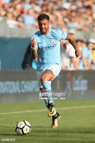 Kyle Walker of Manchester City during the International Champions Cup 2017 match between Manchester City and Tottenham Hotspur at Nissan Stadium on...