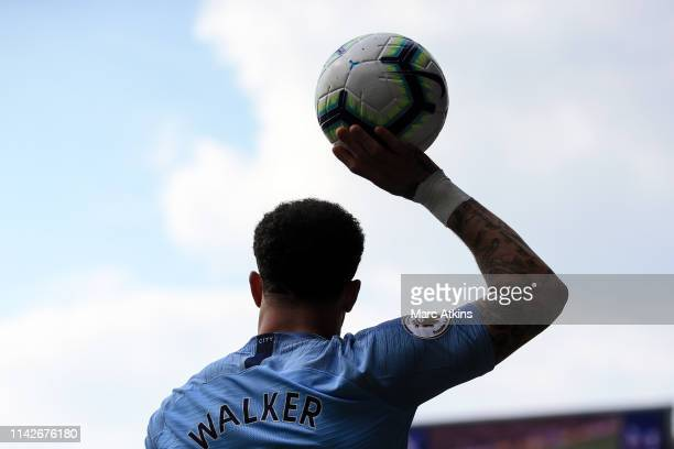 Kyle Walker of Manchester City during the Premier League match between Crystal Palace and Manchester City at Selhurst Park on April 14 2019 in London...
