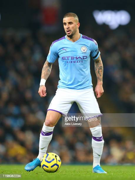 Kyle Walker of Manchester City during the Premier League match between Manchester City and Sheffield United at Etihad Stadium on December 29 2019 in...