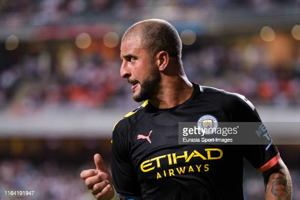 Kyle Walker of Manchester City during the preseason friendly match between Kitchee and Manchester City at the Hong Kong Stadium on July 24, 2019 in...