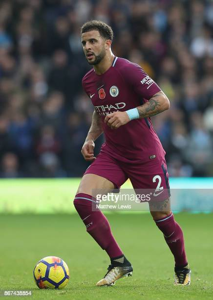 Kyle Walker of Manchester City in action during the Premier League match between West Bromwich Albion and Manchester City at The Hawthorns on October...