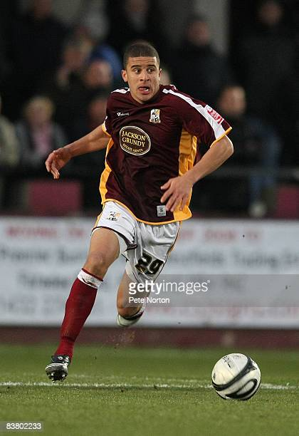 Kyle Walker of Northampton Town in action during the Coca Cola League One Match between Hereford United and Northampton Town at Edgar Street on...