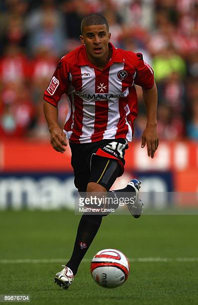 Kyle Walker of Sheffield United in action during the CocaCola Championship match between Sheffield United and Leicester City at Bramall Lane on...