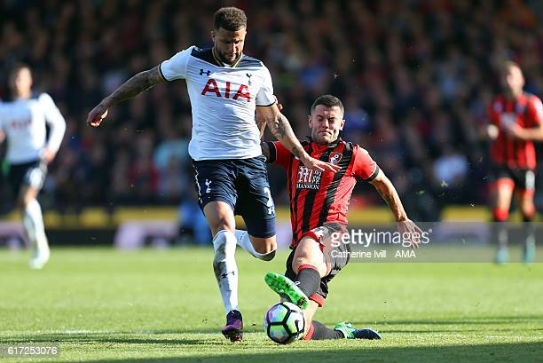 Kyle Walker of Tottenham Hotspur and Jack Wilshere of Bournemouth during the Premier League match between AFC Bournemouth and Tottenham Hotspur at...