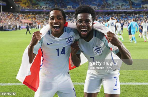 Kyle WalkerPeters and Josh Onomah of England celebrate victoryafter the FIFA U20 World Cup Korea Republic 2017 Final between Venezuela and England at...