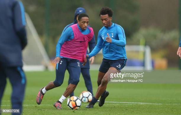 Kyle WalkerPeters and Tashan OakleyBoothe of Tottenham Hotspur during the Tottenham Hotspur training session at Tottenham Hotspur Training Centre on...