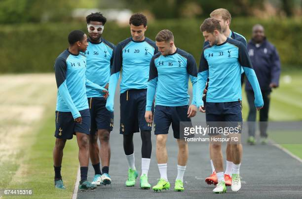 Kyle WalkerPeters Josh Onomah Dele Alli Kieran Trippier Ben Davies and Eric Dier of Tottenham during the Tottenham Hotspur training session at...