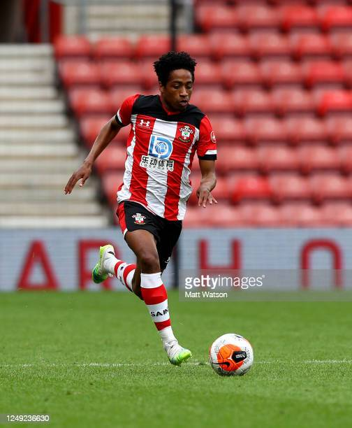 Kyle WalkerPeters of Southampton during a friendly match between Southampton FC and Bristol City ahead of the Premier League restart at St Mary's...