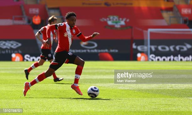 Kyle Walker-Peters of Southampton during the Premier League match between Southampton and Burnley at St Mary's Stadium on April 04, 2021 in...