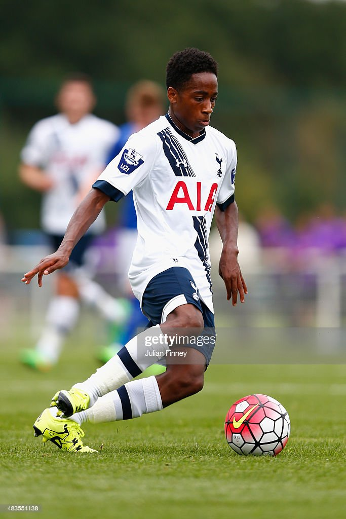 Kyle Walker-Peters of Spurs in action during the Barclays U21 Premier League match between Tottenham Hotspur U21 and Everton U21 at Tottenham Hotspur Training Ground on August 10, 2015 in Enfield, England.