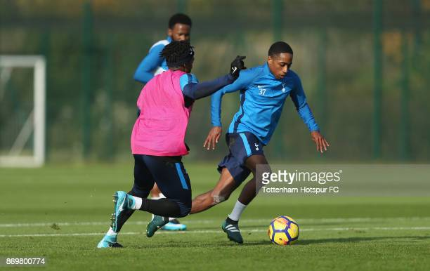 Kyle WalkerPeters of Tottenham during the Tottenham Hotspur training session at Tottenham Hotspur Training Centre on November 3 2017 in Enfield...