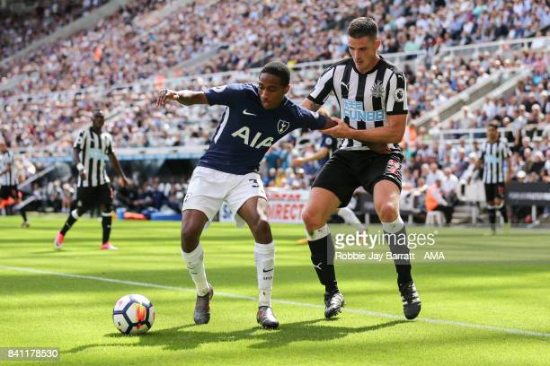 Kyle WalkerPeters of Tottenham Hotspur and Ciaran Clark of Newcastle United during the Premier League match between Newcastle United and Tottenham...