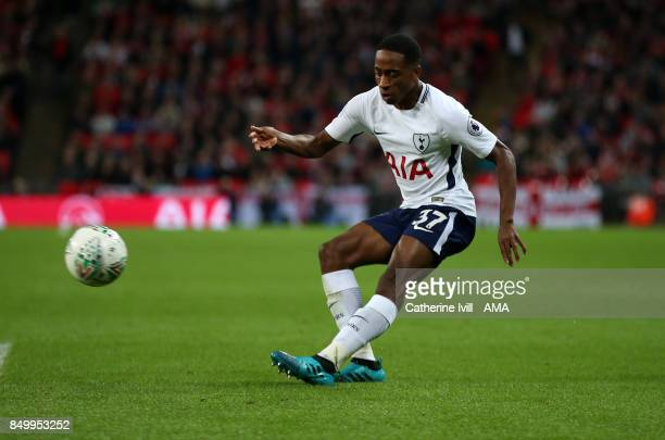 Kyle WalkerPeters of Tottenham Hotspur during the Carabao Cup Third Round match between Tottenham Hotspur and Barnsley at Wembley Stadium on...