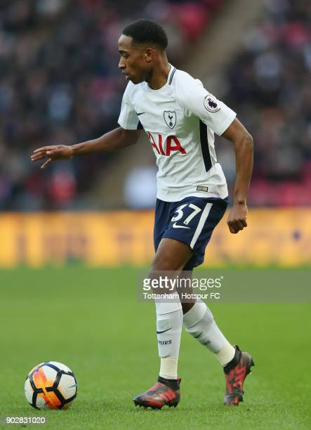 Kyle WalkerPeters of Tottenham Hotspur during the Emirates FA Cup Third Round match between Tottenham Hotspur and AFC Wimbledon at Wembley Stadium on...