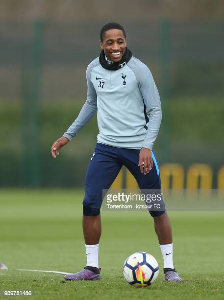 Kyle WalkerPeters of Tottenham Hotspur during the Tottenham Hotspur training session at Tottenham Hotspur Training Centre on March 29 2018 in Enfield...