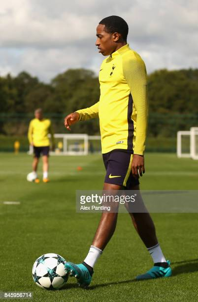 Kyle WalkerPeters of Tottenham Hotspur looks on during a Tottenham Hotspur training session ahead of their UEFA Champions League Group H match...