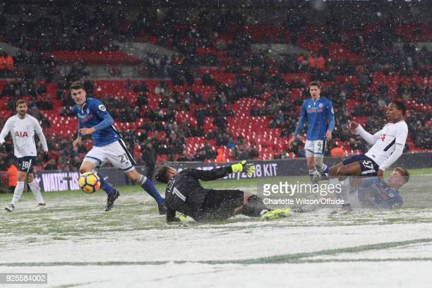 Kyle WalkerPeters of Tottenham Hotspur scores their 6th goal during the Emirates FA Cup Fifth Round Replay match between Tottenham Hotspur and...