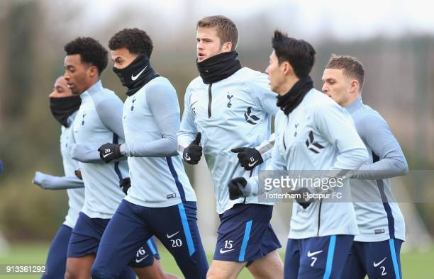 Kyle WalkerPeters Tashan OakleyBoothe Dele Alli Eric Dier Kieran Trippier and HeungMin Son of Tottenham Hotspur during the Tottenham Hotspur training...
