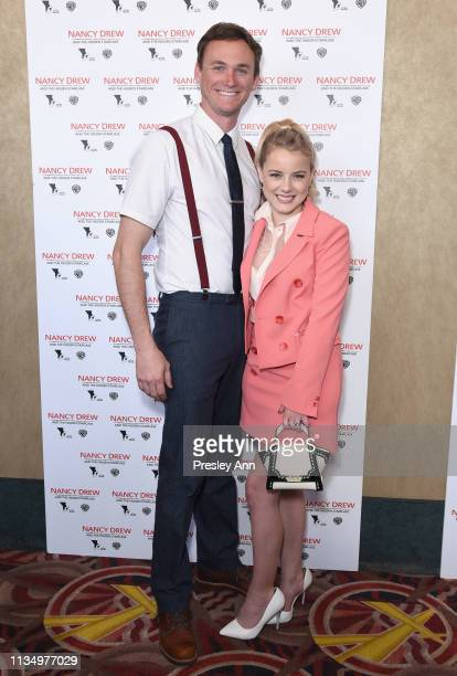 Kyle Weishaar and Laura Wiggins attend the red carpet premiere of 'Nancy Drew and the Hidden Staircase' at AMC Century City 15 on March 10 2019 in...
