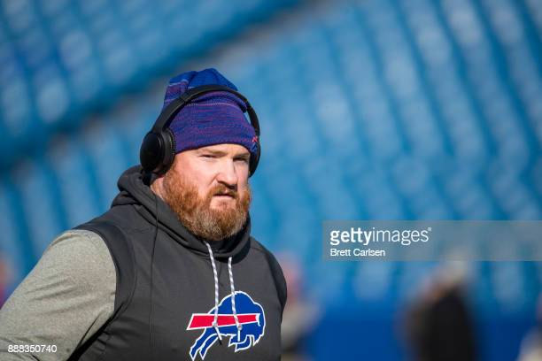 Kyle Williams of the Buffalo Bills participates in warms up before the game against the New England Patriots at New Era Field on December 3 2017 in...