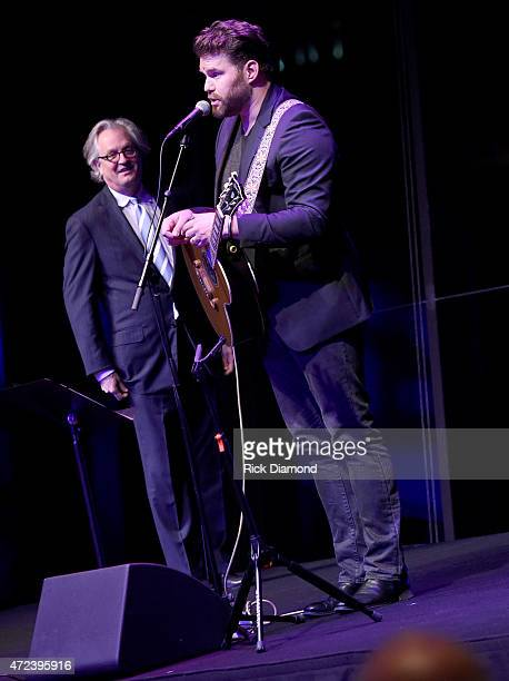 Kyle Young CEO Country Music Hall of Fame and Museum and Singer/Songwriter James Otto during Working On A Building' Capital Campaign Dinner at the...