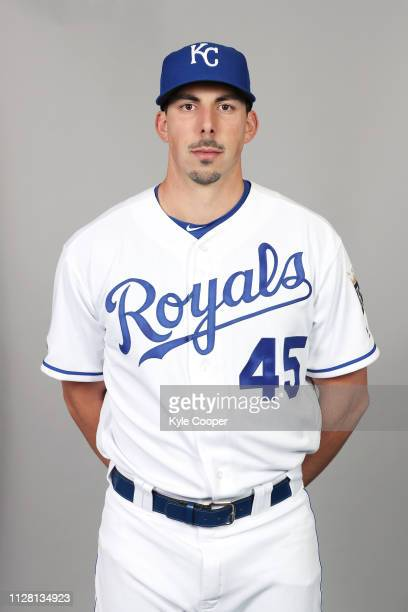 Kyle Zimmer of the Kansas City Royals poses during Photo Day on Thursday February 21 2019 at Surprise Stadium in Surprise Arizona