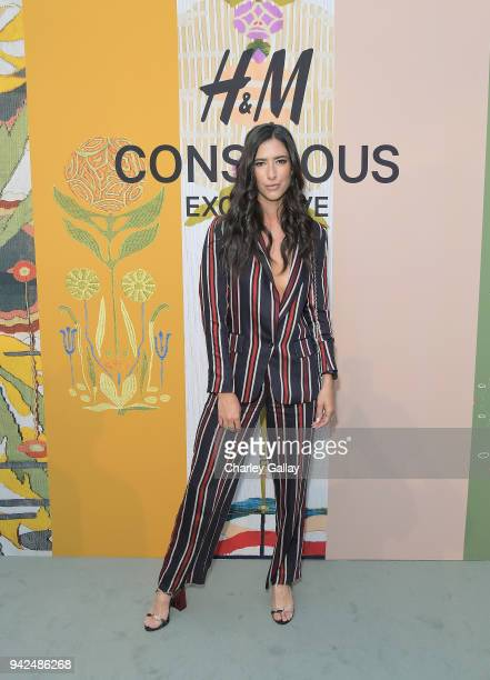 Kylee Campbell attends the HM celebration of 2018 Conscious Exclusive collection at John Lautner's Harvey House on April 5 2018 in Los Angeles...