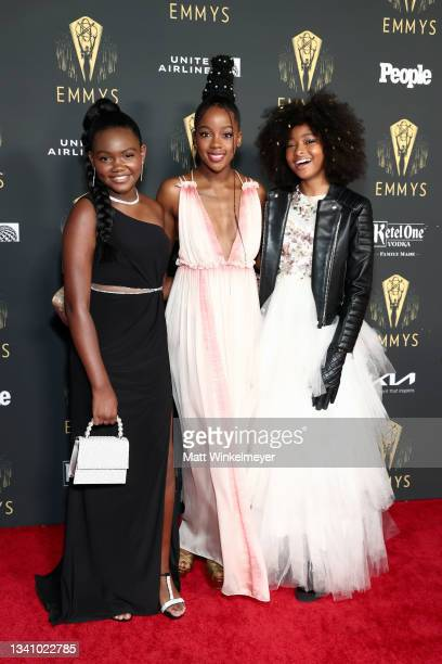 Kylee D. Allen, Thuso Mbedu, and Mychal-Bella Bowman attend the Television Academy's Reception to Honor 73rd Emmy Award Nominees at Television...