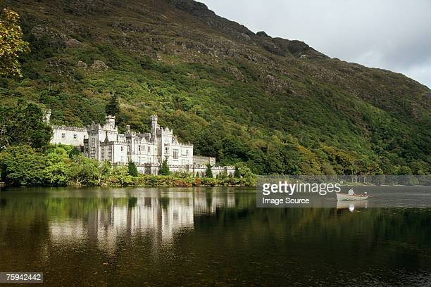 kylemore abbey connemara - county galway stock pictures, royalty-free photos & images