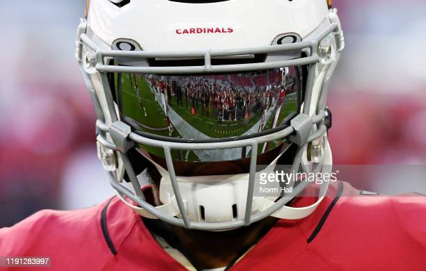 Kyler Murray of the Arizona Cardinals prepares for a game against the Los Angeles Rams at State Farm Stadium on December 01, 2019 in Glendale,...