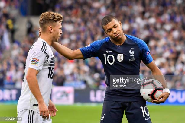 Kylian Mbappé during the Nation League match between France and Germany at France's stadium on October 16 2018 in Paris France